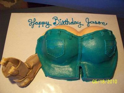 'Getting Booted Out' Cake