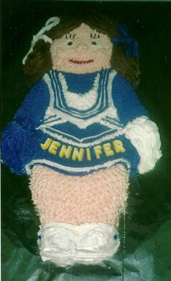 GO TEAM! Cheerleader Cake