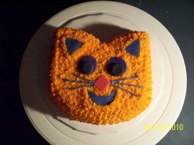 Fine Jennifers Cat Face Cake Funny Birthday Cards Online Overcheapnameinfo