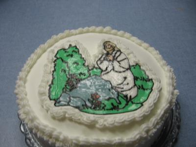 Jesus Praying Cake