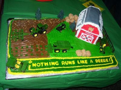 John Deere Green Cake