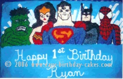 Justice League Characters Cake