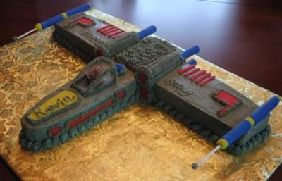 X-Wing Fighter Cake