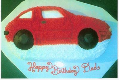 Lana S Dad S Red Car Cake