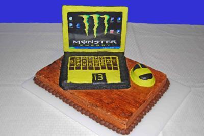 Laptop Computer Monster Cake