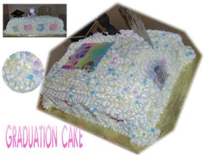 Lemon Cream Graduation Cake