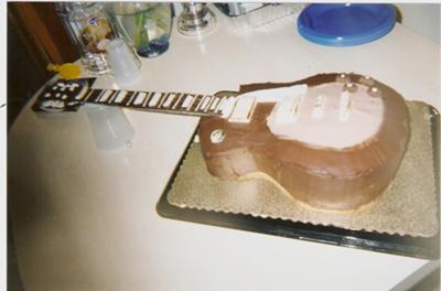 Mark 's Les Paul Guitar Birthday Cake