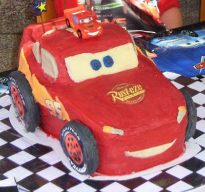 Lightening McQueen 3D cake
