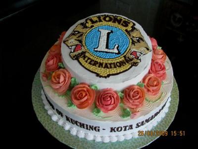 Pleasing Lion Club Birthday Cake Funny Birthday Cards Online Overcheapnameinfo