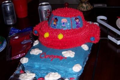 Our Favorite Rocketship Cake