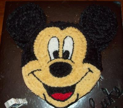 Lukes 1st Birthday Mickey Mouse Cake