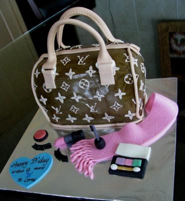 LV Handbag cake