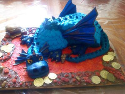Magic Treasure Dragon Cake