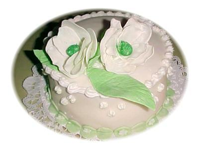 White Magnolia Flower Cake