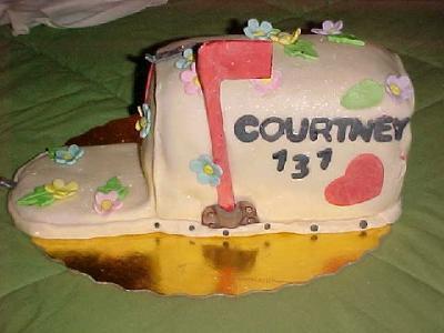 Mail Box Cake