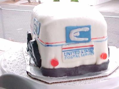Awesome Mailmans Cake For My Postmans Birthday Funny Birthday Cards Online Alyptdamsfinfo