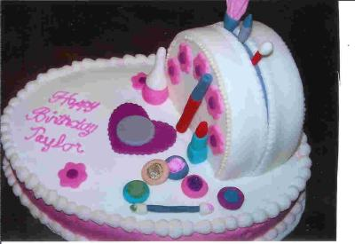 Mak-Up Bag Birthday Cake