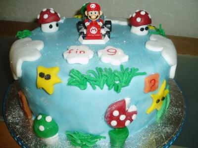 Mario Birthday Cake on Mario Birthday Cake