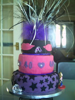 80s Girlie 40th Birthday Cake
