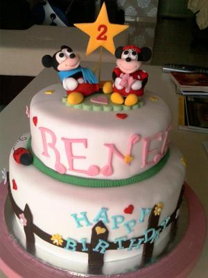 minnie mouse cake. Mickey Mouse and Minnie Mouse