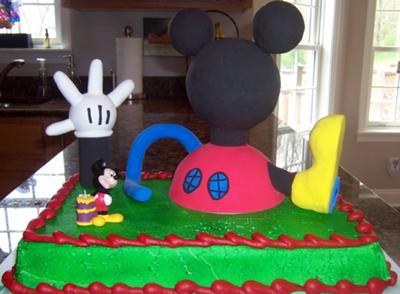 Enjoyable Mickey Mouse Cakes For Kids Personalised Birthday Cards Veneteletsinfo