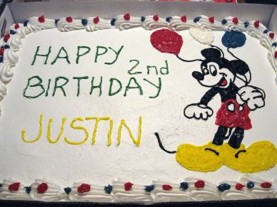 Justin's 2nd Bday Cake - Mickey Mouse