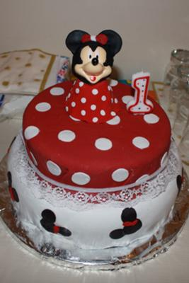 Birthday Cake Designs on Minnie Mouse Birthday Cake