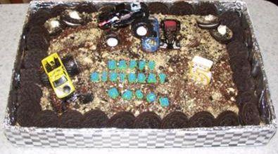 Monster Truck Arena Birthday Cake