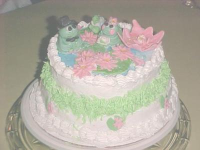 Mr Frogs Wedding Cake