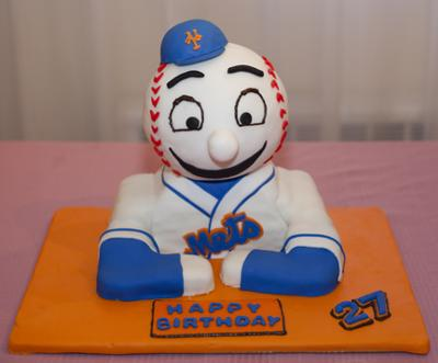 Mr. Met Birthday Cake