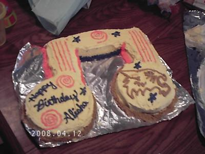 Musical Note Cake