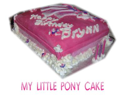 Easy Birthday Cake Ideas on My Little Pony Birthday Cake