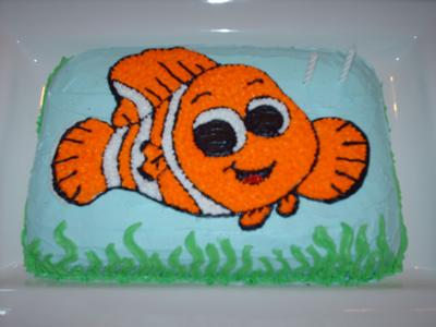 Birthday Cake - Nemo fish birthday cake