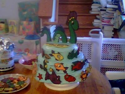 Nessie Birthday Cake