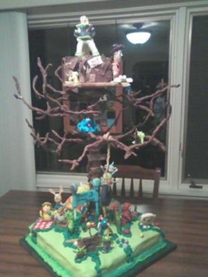 Nick Jr. Tree House Cake