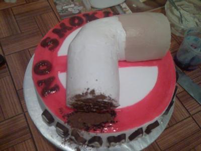 No Smoking Cake