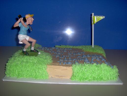 Old Golfer Cake