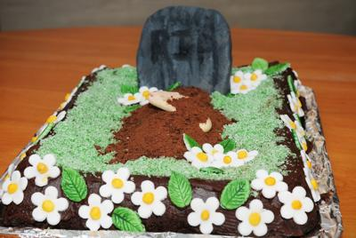 One Foot In The Grave Cake