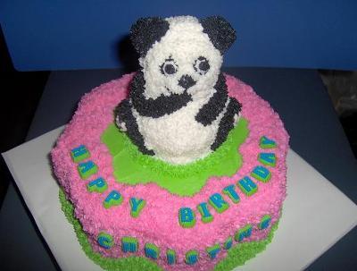 Panda and Flower Cake