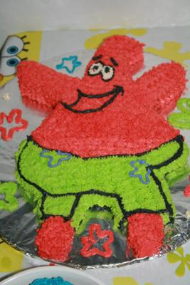 Marvelous Patrick Star Cake Personalised Birthday Cards Cominlily Jamesorg