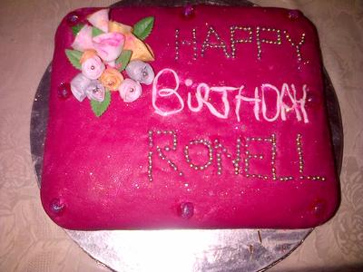Pink Boquet Chocolate Cake