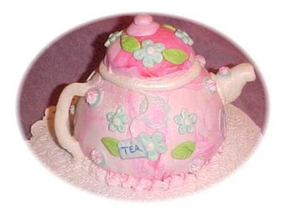 Pink Tea  Pot Cake