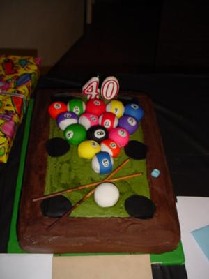 Pool Table Birthday Cake