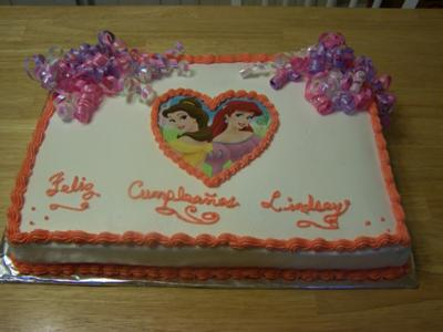 Princess Sheet Cake