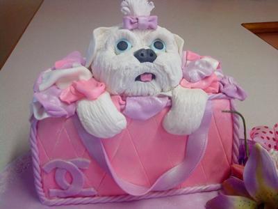 Puppy in a Bag Cake