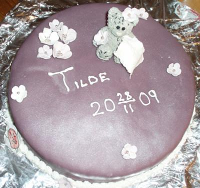 Purple Bear Cake