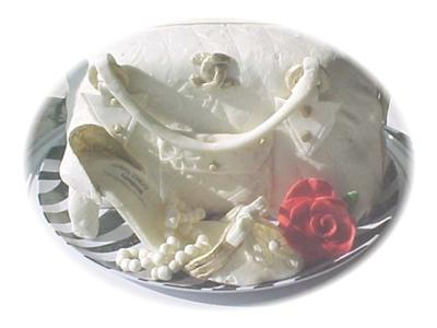 Purse and Shoe Cake