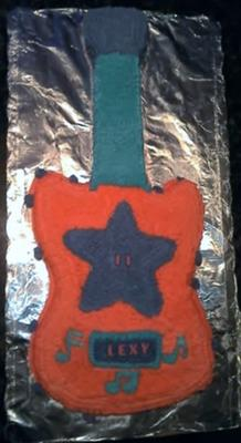 Rock Star Guitar Birthday Cake