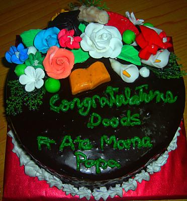 Round Graduation Cake Images : Pin Round Graduation Cake With Blue And Yellow Flowersjpg ...
