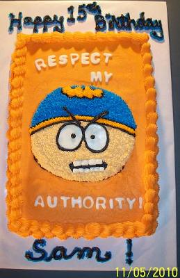Sam's Cartman Cake
